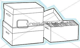 Blank Storage Boxes