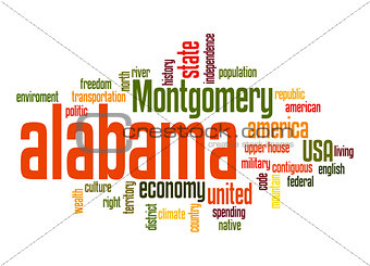 Alabama word cloud
