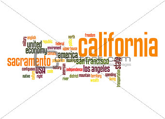 California word cloud