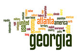 Georgia word cloud