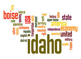 Idaho word cloud