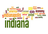 Indiana word cloud