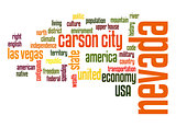 Nevada word cloud