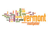 Vermont word cloud