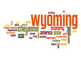 Wyoming word cloud
