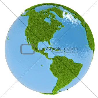 America on green planet