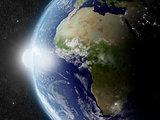 Sun over Africa