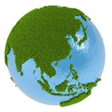 East Asia on green planet