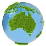 Australia on green planet