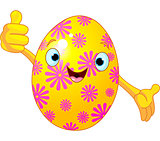 Easter Egg Character giving thumbs up