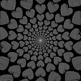 Design doodle monochrome heart helix motion background