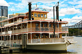 Old fashioned classic Ferry, Brisbane River.