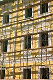 scaffold over facade