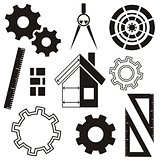 House construction icons