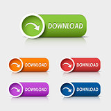 Colored rectangular web buttons download
