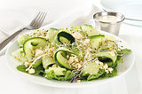 Cucumber feta cheese salad