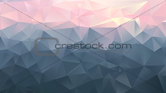 Abstract background - Sunset in the mountains