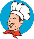 Chef Cook Baker Smiling Cartoon