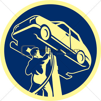 Auto Mechanic Automobile Car Repair Retro