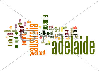 Adelaide word cloud