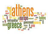 Athens word cloud
