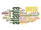 Atlanta word cloud