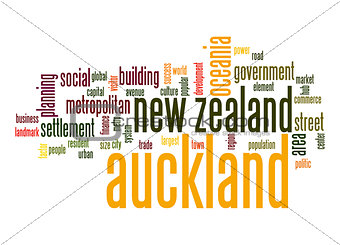 Auckland word cloud