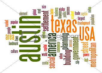 Austin word cloud