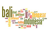 Bali word cloud