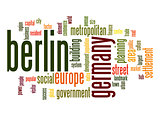 Berlin word cloud
