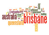 Brisbane word cloud