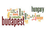 Budapest word cloud