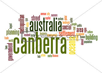 Canberra  word cloud
