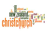 Christchurch word cloud