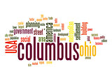 Columbus word cloud