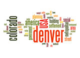 Denver word cloud