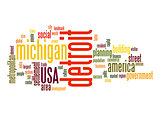 Detroit word cloud