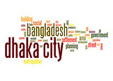 Dhaka City word cloud