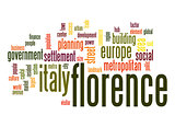 Florence word cloud