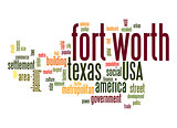 Fort Worth word cloud