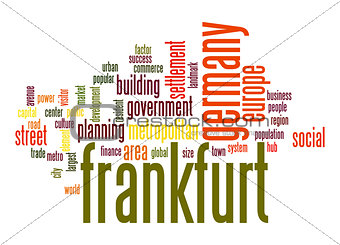 Frankfurt word cloud