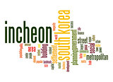 Incheon word cloud