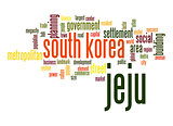 Jeju word cloud