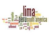 Lima word cloud