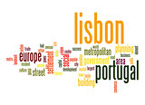 Lisbon word cloud