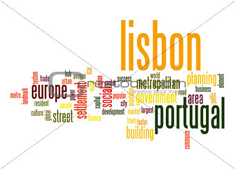 Lisbon word cloud