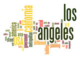 Los Angeles word cloud