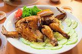 Chinese Whole Roast Chicken Closeup