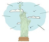 statue of Liberty. vector illustration