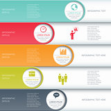Modern business infographics options banner